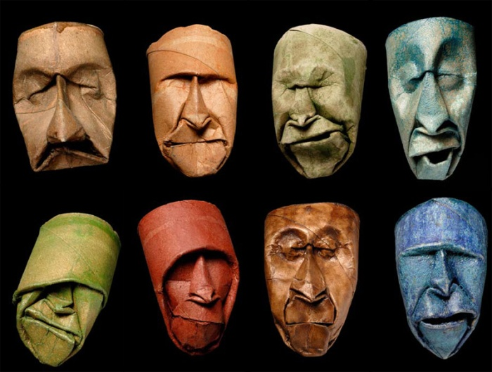 toilet paper roll faces by junior fritz jacquet 9 Yulia Brodskaya Rolls Strips of Paper Into Works of Art