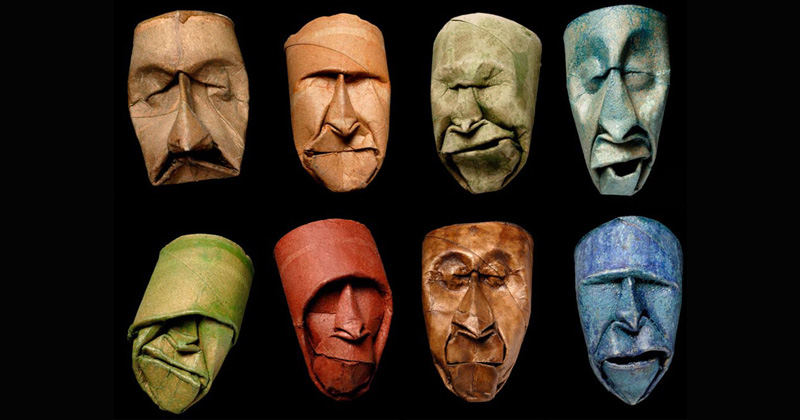 Toilet Paper Rolls Squished Into Faces by Junior Fritz Jacquet