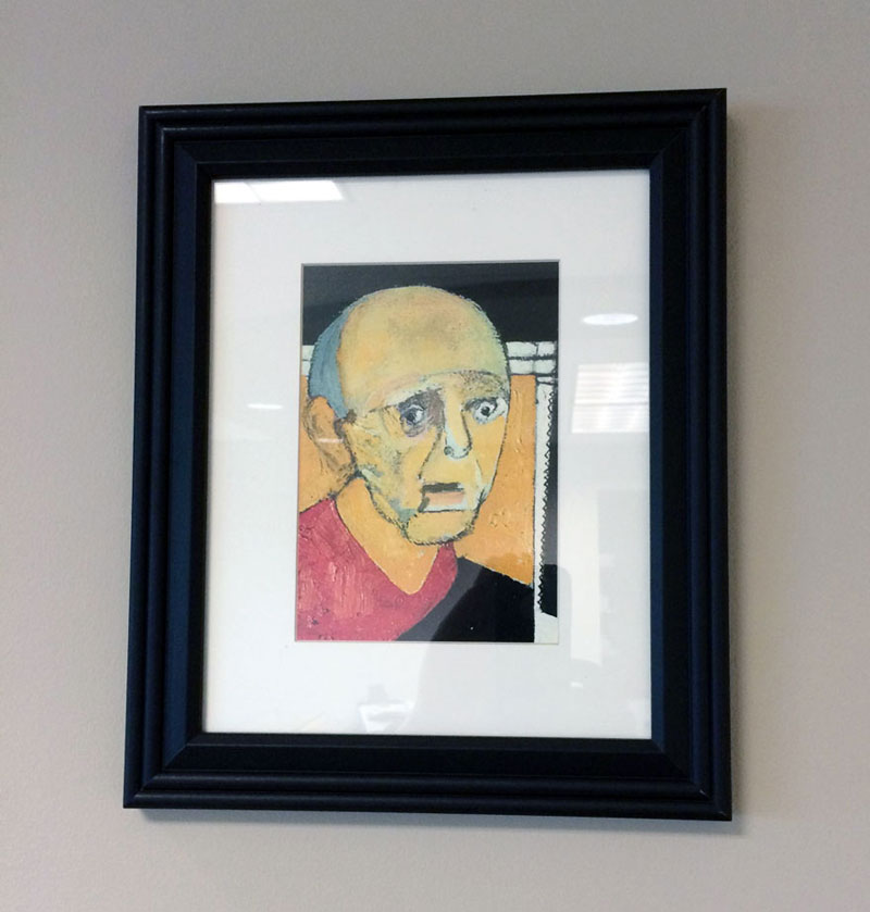william utermohlen's Battle with Alzheimer's Documented Through Self-Portrait Paintings (3)