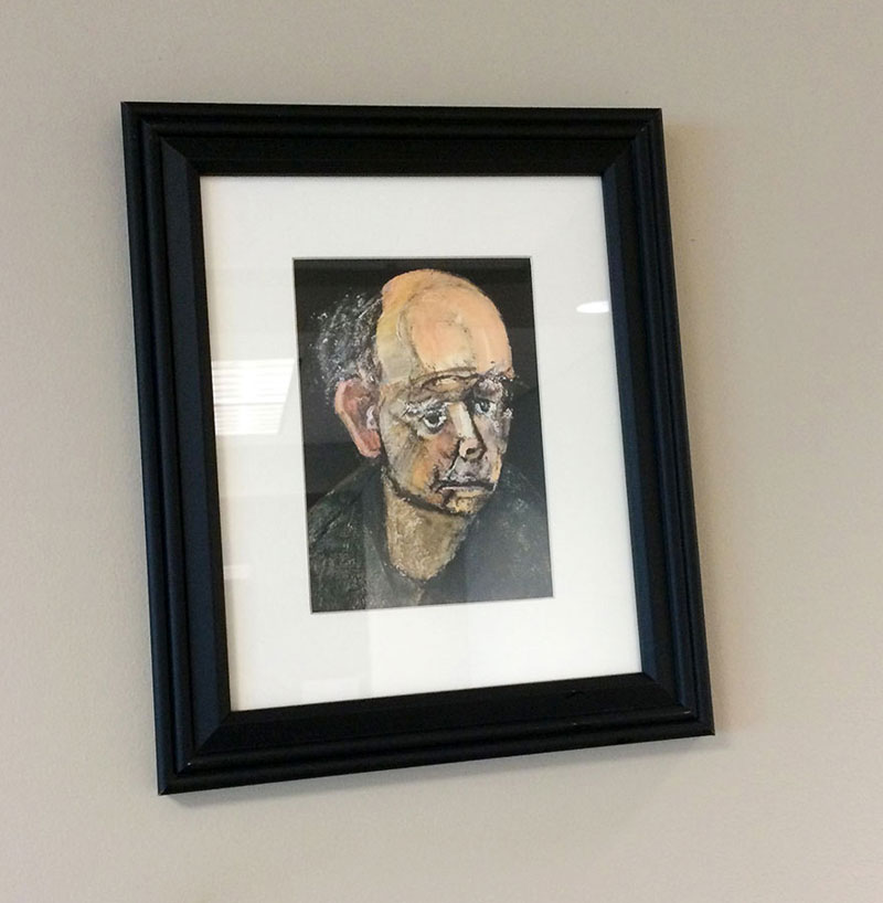 william utermohlen's Battle with Alzheimer's Documented Through Self-Portrait Paintings (4)