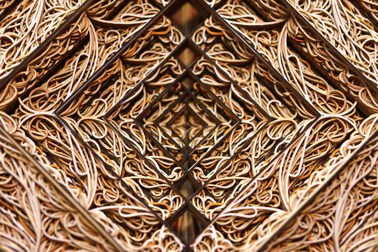 zeno2detailsm This is What 100 Sheets of Stacked, Laser Cut Paper Looks Like