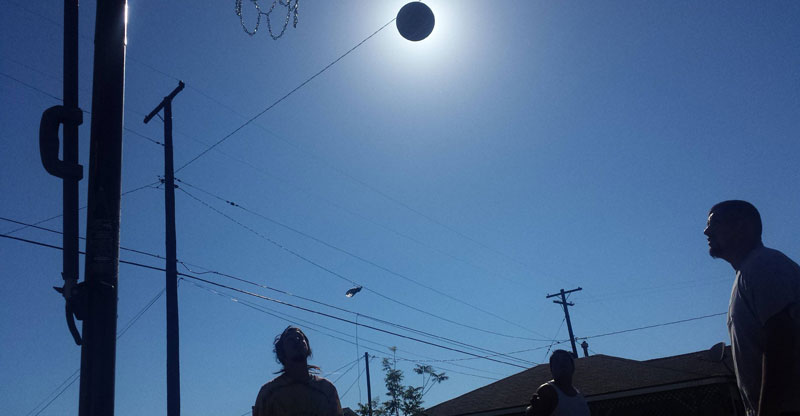 Picture of the Day: Basketball Eclipse of the Sun