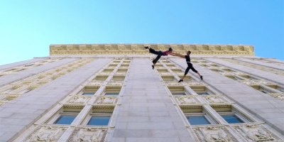 Watch These Dancers Waltz on the Side of a Building