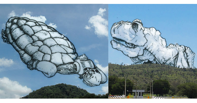 Artist Takes Photos of Clouds and Draws What He Sees on Top ofThem