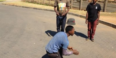 Street Performers in South Africa Do Amazing Floating Hat Trick