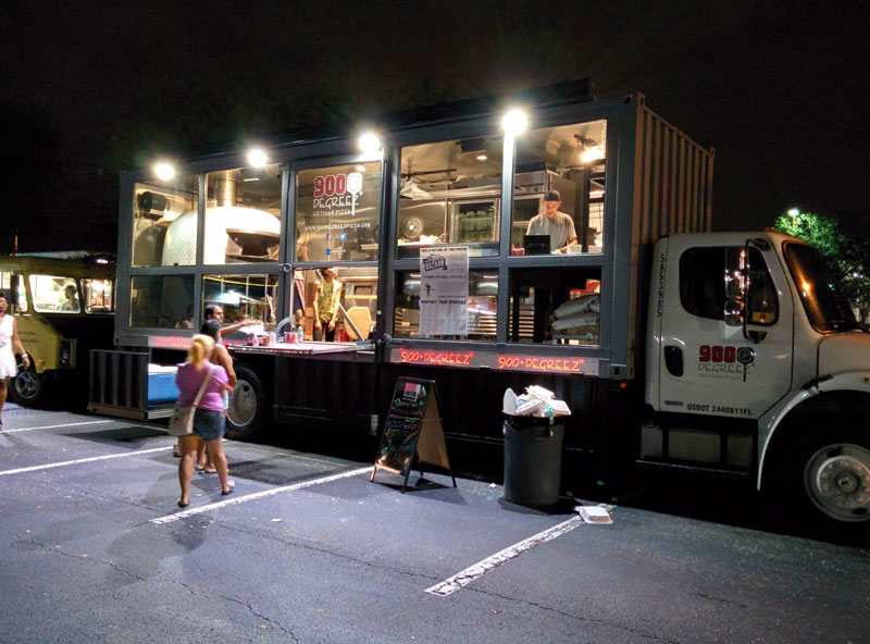 This Food Truck Rolls Around with a 3,500 pound Wood-FiredOven