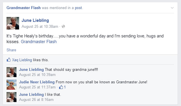 grandmas grandmothers accidentally tag grandmaster flash on facebook 1 What Facebook Feels Like in 2014