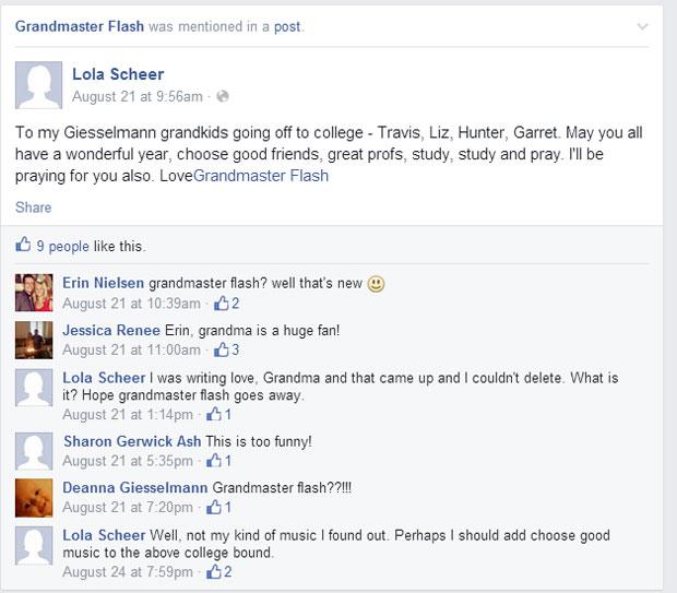 grandmas grandmothers accidentally tag grandmaster flash on facebook (2)