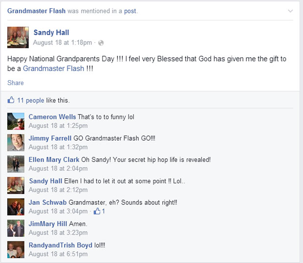grandmas grandmothers accidentally tag grandmaster flash on facebook (3)