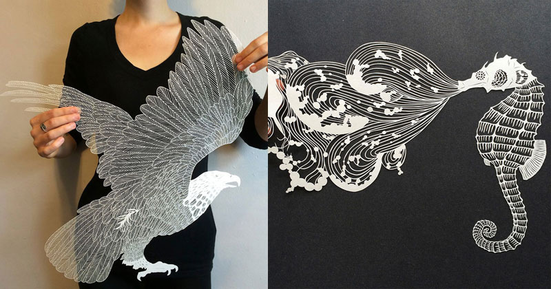 Tag Paper Page TwistedSifter - Intricate hand cut paper art maude white