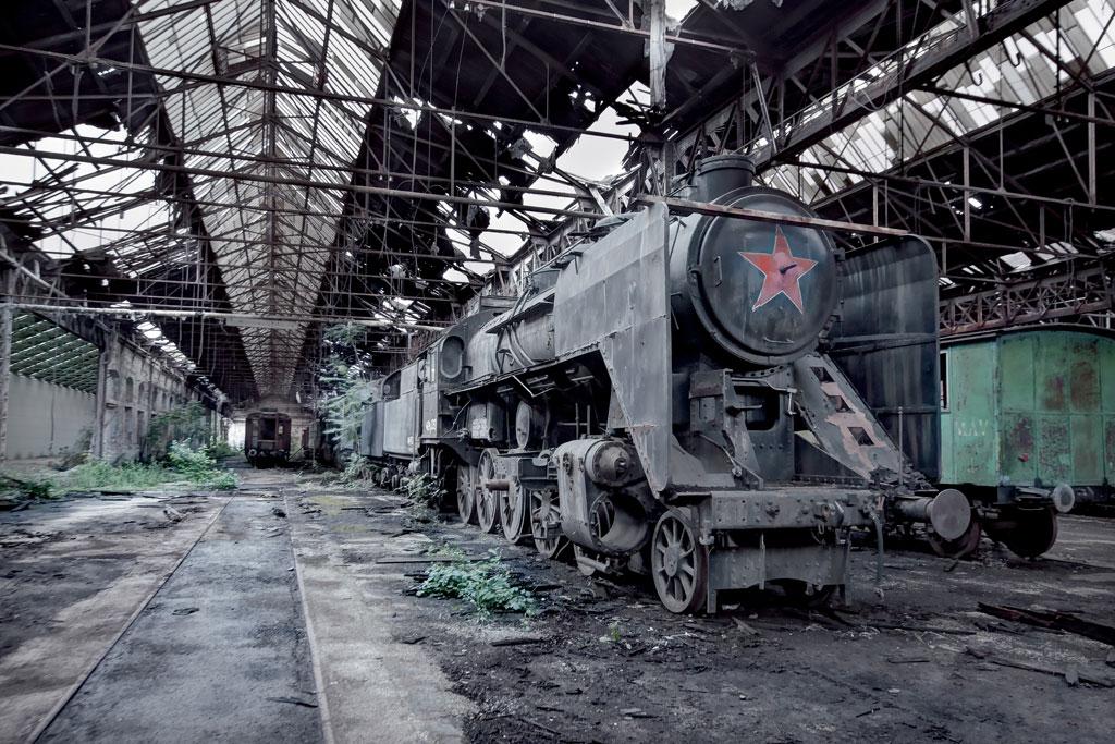 HUNGARY---MAV-424-Steam-Train