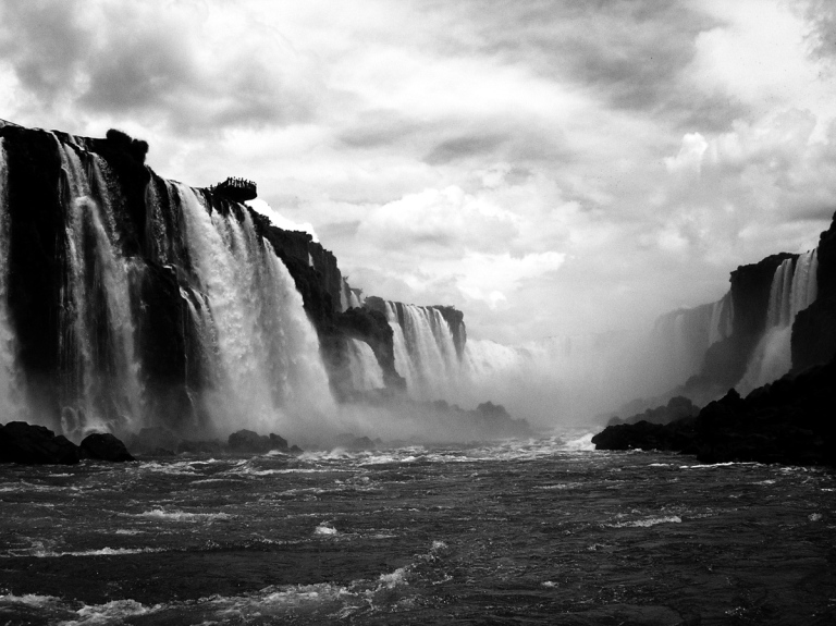 iguazu-falls-brazil-black-and-white-from-below