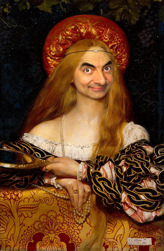 rodney pike photoshop mr bean into famous paintings (11)