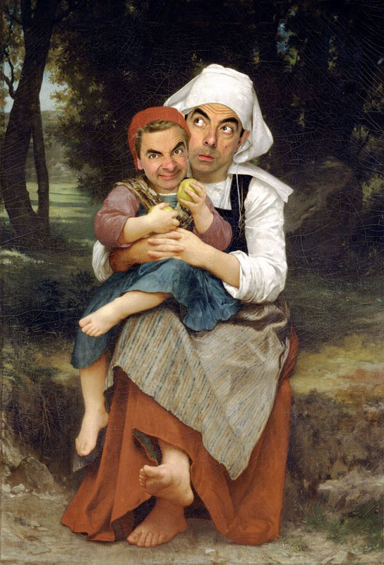 rodney pike photoshop mr bean into famous paintings (2)