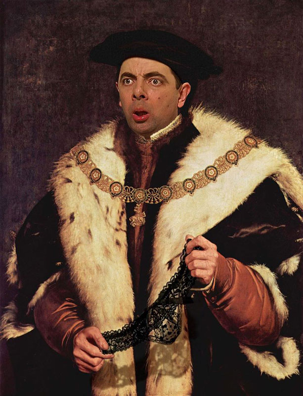 rodney pike photoshop mr bean into famous paintings (5)