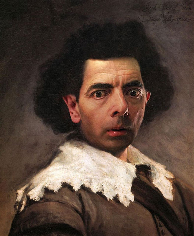 rodney pike photoshop mr bean into famous paintings (6)