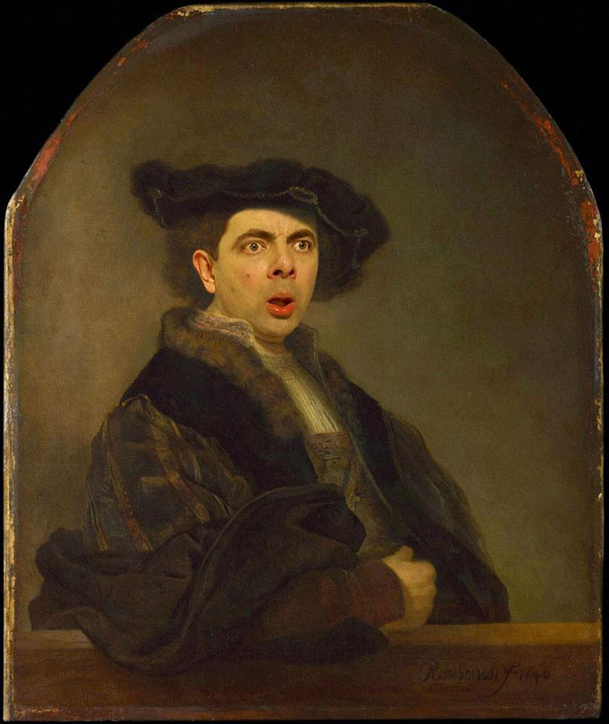 rodney pike photoshop mr bean into famous paintings (8)