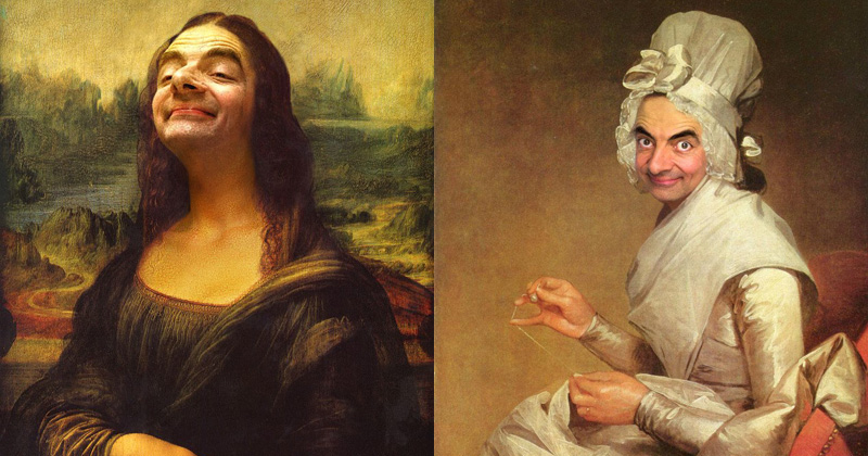 This Guy Can't Stop Photoshopping Mr Bean Into FamousPaintings