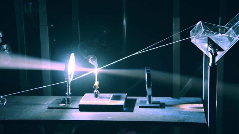 This Rube Goldberg Machine Uses Light Mirrors And