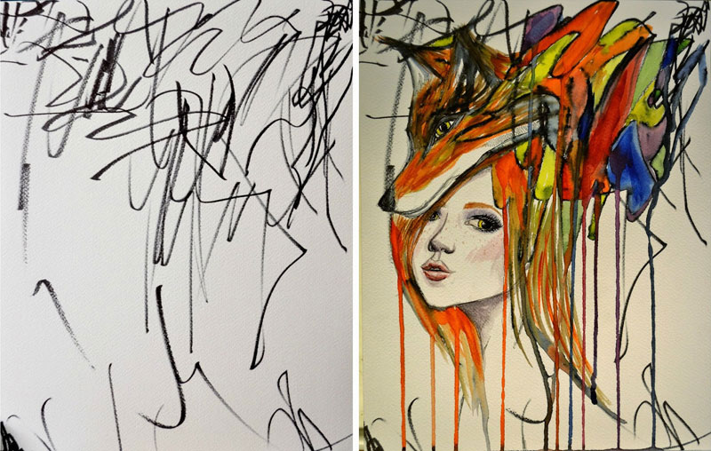 Artist Turns Her 2-Year-Old's Sketches Into WatercolorPaintings