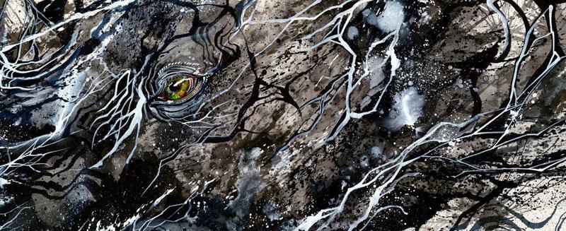 splatter ink animal portraits by hua tunan (13)