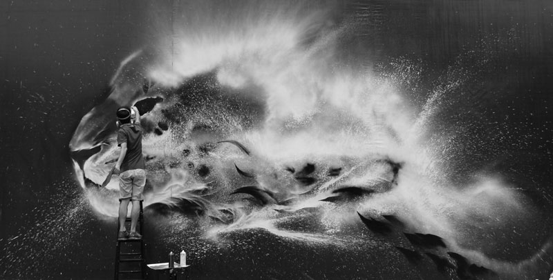 splatter ink animal portraits by hua tunan (15)
