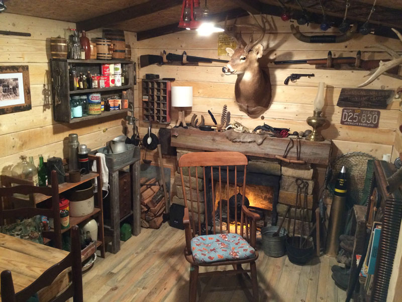 This Guy Built A Rustic Cabin Man Cave For Dollars