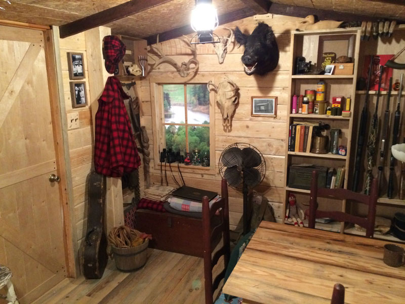 Sheds Made Into Man Caves : This guy built a rustic cabin man cave for «twistedsifter
