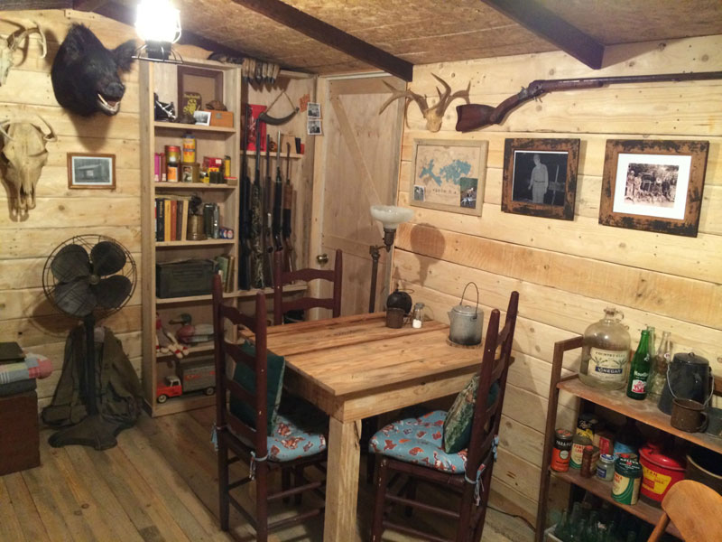 this guy built a rustic cabin man cave for 107 twistedsifter. Black Bedroom Furniture Sets. Home Design Ideas