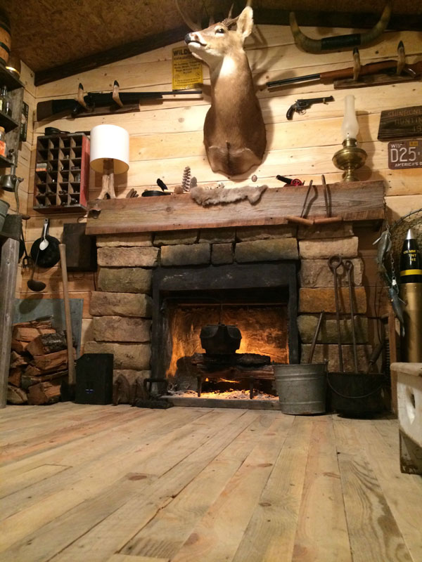 Man Cave Ideas For The Outdoorsman : This guy built a rustic cabin man cave for «twistedsifter