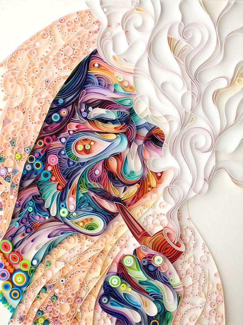 yulia brodskaya rolls strips of paper into works of art (3)