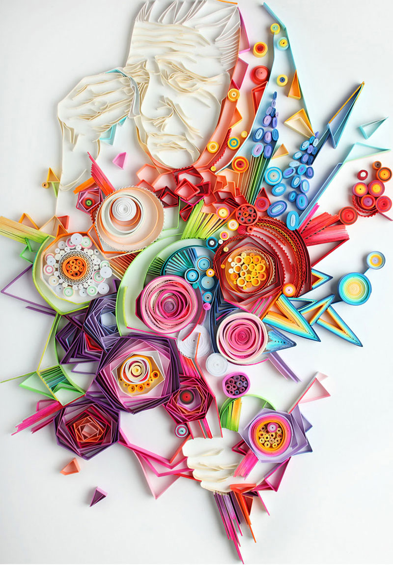 yulia brodskaya rolls strips of paper into works of art (4)
