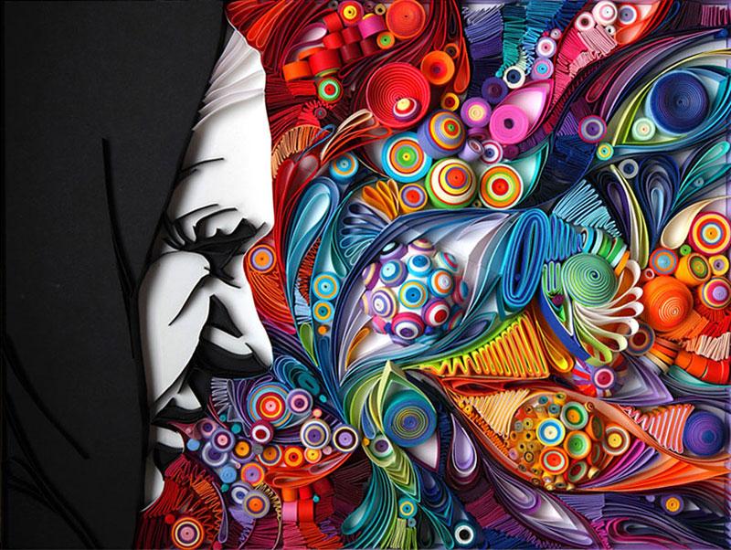 yulia brodskaya rolls strips of paper into works of art (5)