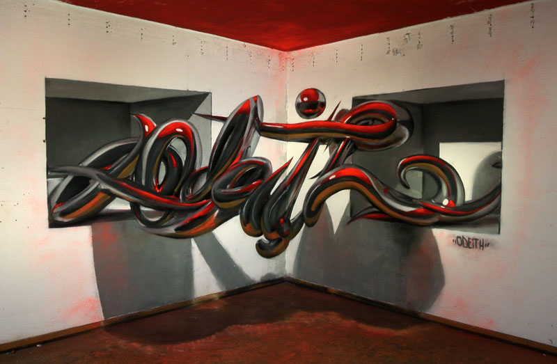 Amazing anamorphic graffiti murals that leap off the wall by odeith