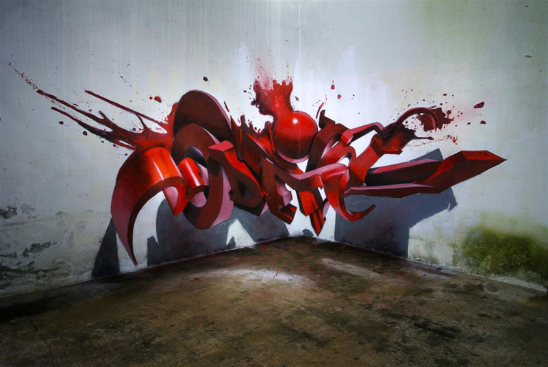 anamorphic graffiti murals that leap off the wall by odeith (14)