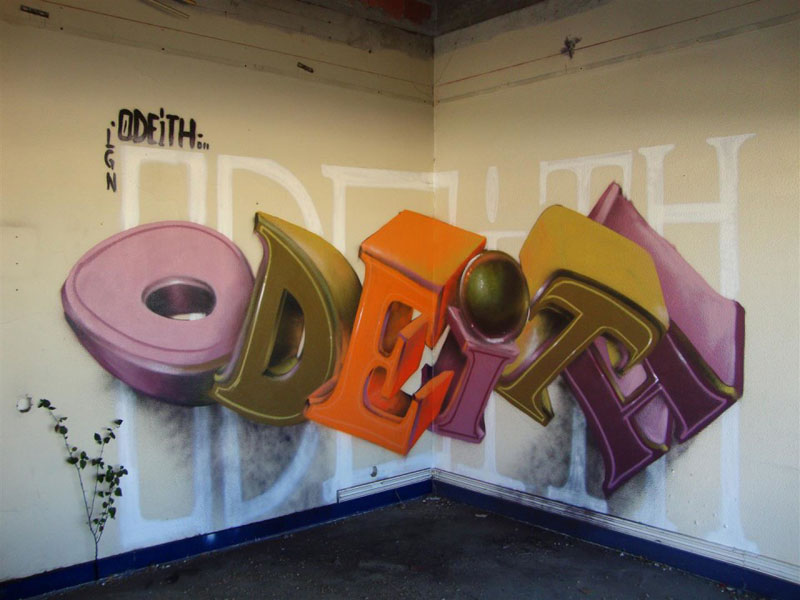 anamorphic graffiti murals that leap off the wall by odeith 3 Artist Turns Utility Box Into Ceramic Tile Illusion