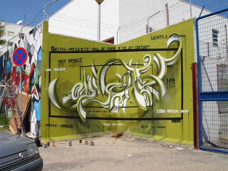anamorphic graffiti murals that leap off the wall by odeith (7 ...