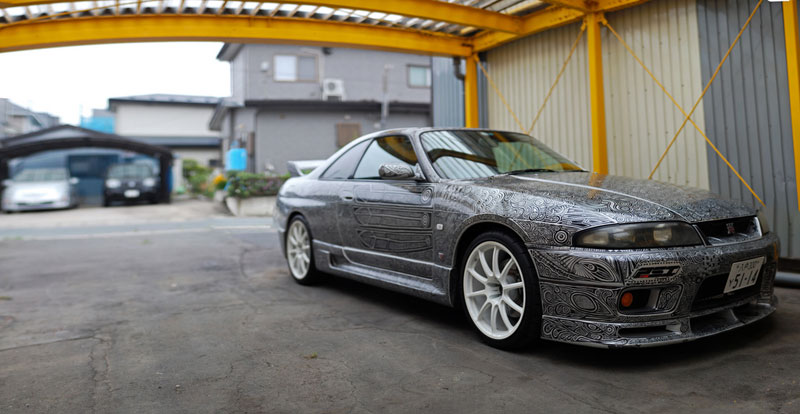 Artist Uses Sharpie to Give Nissan Skyline GTR One of a Kind Paint Job (9)