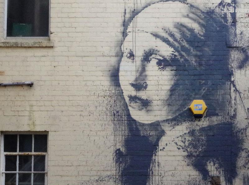 Banksy Remixes Vermeer in Latest StreetArtwork