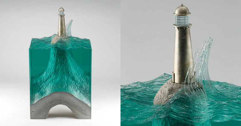 Glass Wave Sculptures by Ben Young
