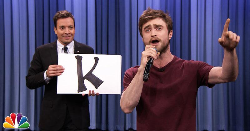 Daniel Radcliffe Raps 'Alphabet Aerobics' on JimmyFallon