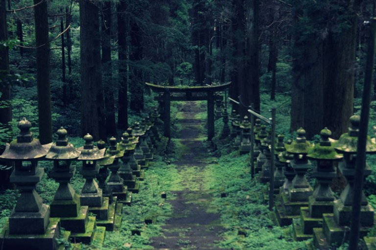 Forest Shrine in Takamori-machi, Kumamoto japan