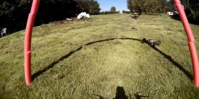 FPV Racing with MiniQuadcopters