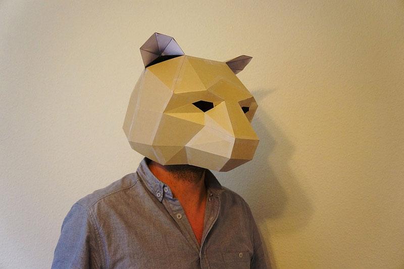 Geometric 3D Paper Masks by Steve Wintercroft (4)