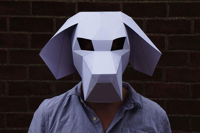 Geometric 3D Paper Masks By Steve Wintercroft 8