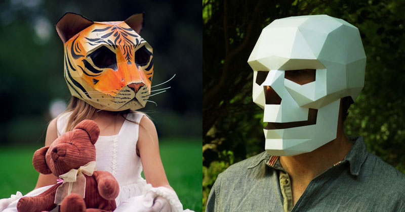 Geometric 3D Paper Masks by SteveWintercroft