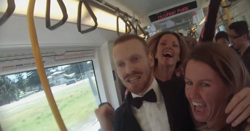 Guy Starts Awesome Dance Party on a Train inPerth