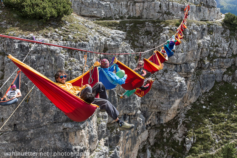 highline hammock session monte piana by sebastian wahlhutter 12 Highline Hammock Session in the Dolomites