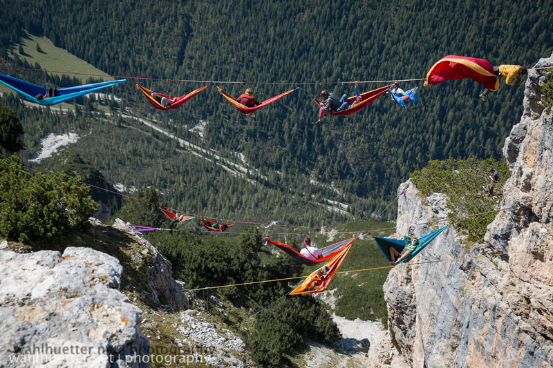 highline hammock session monte piana by sebastian wahlhutter 3 Highline Hammock Session in the Dolomites