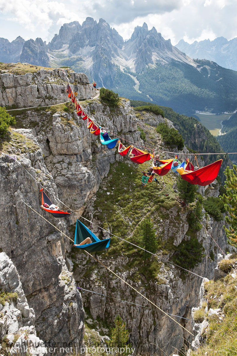 highline hammock session monte piana by sebastian wahlhutter 4 Highline Hammock Session in the Dolomites